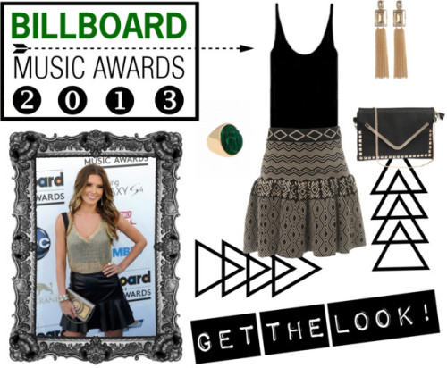 GET THE LOOK! by i-found-a-secret featuring black tank topsTIBI black tank top / Mini skirt / Kara Ross  jewelry / Janis Savitt gold earrings