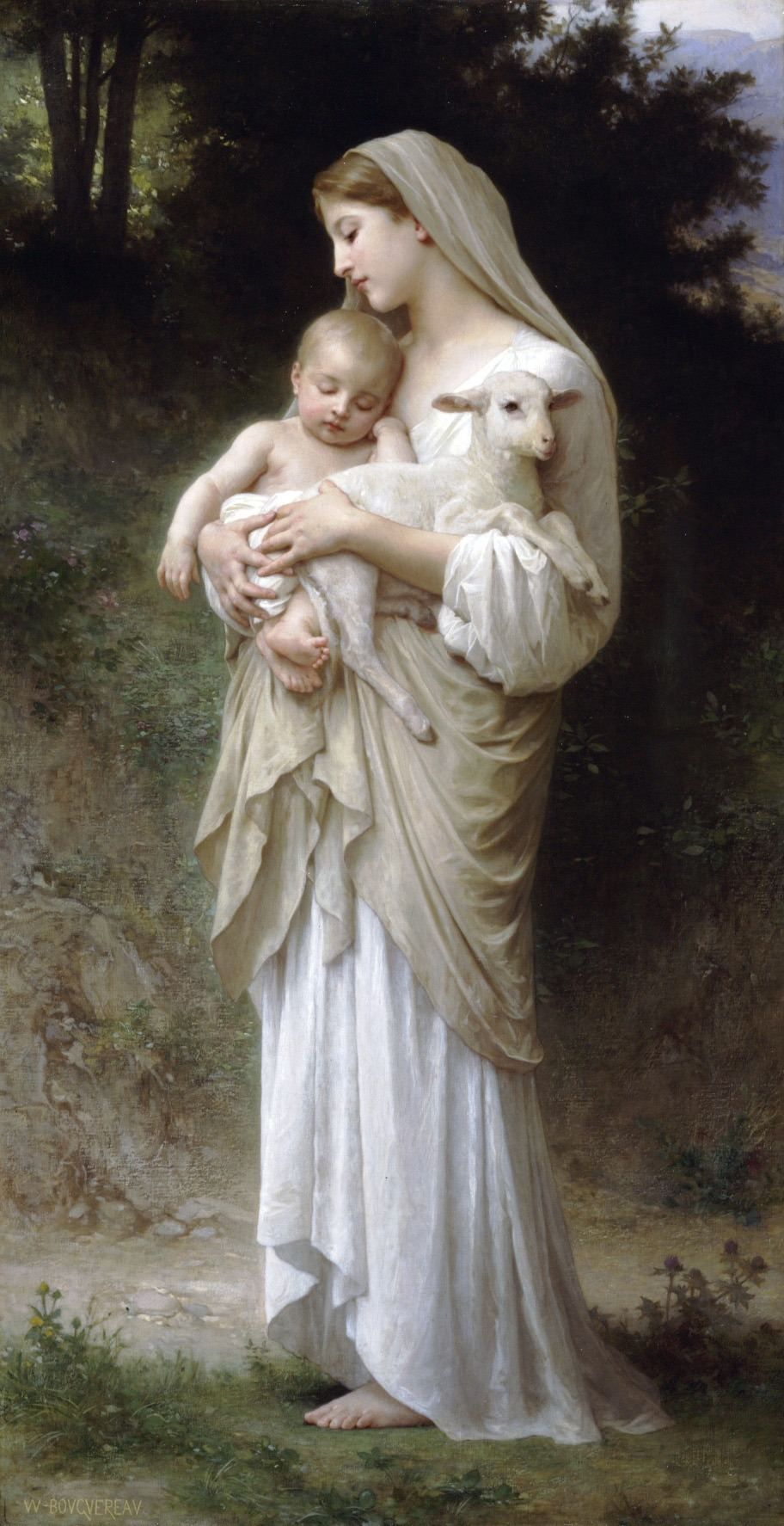 "25revolutions:  ""L'innocence"" by French painter William-Adolphe Bouguereau; 1893"