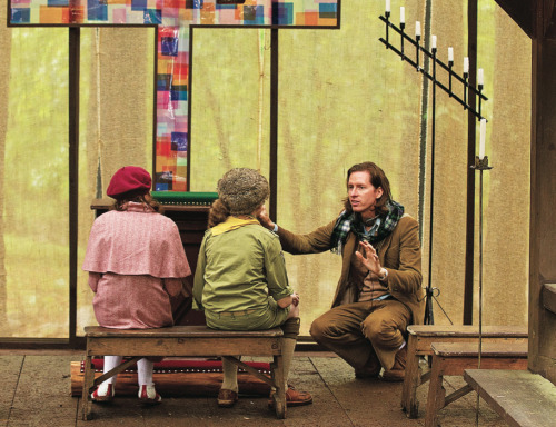 bigmeowski:  Wes Anderson on the set of Moonrise Kingdom (2012)