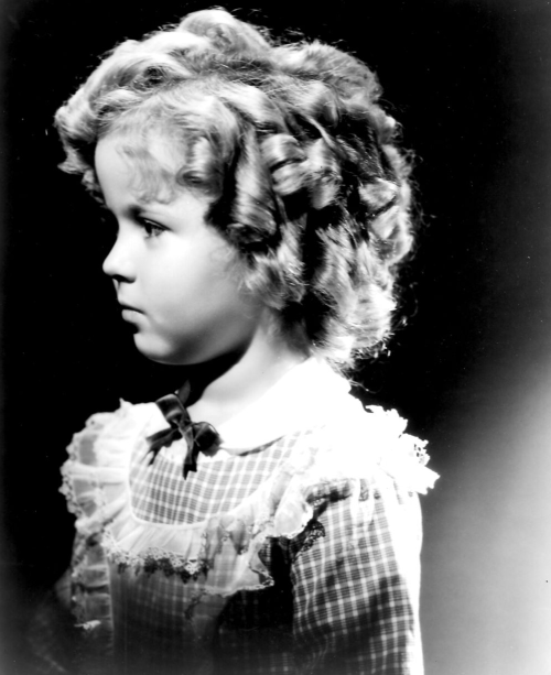 Shirley Temple in a portrait for The Littlest Rebel, 1935.