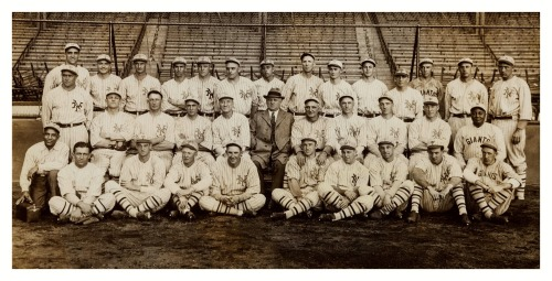 1923 New York Giants Team National League ChampionsFeaturing Mgr. John McGraw, Casey Stengel (middle row, 2nd left), Hack Wilson, Frankie Frisch and High Pockets Kelly.
