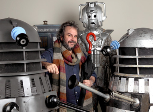 "Peter Jackson still interested in directing an episode of 'Doctor Who' and names his fee EW.com  Peter Jackson has exclusively confirmed that he is still interested in directing an episode ofDoctor Who. The Lord of the Rings filmmaker has also named his fee: a Dalek. The offer came in the course of Jackson's appreciation of the British science fiction showthat appears in the new issue of Entertainment Weekly. Jackson is a diehard Who fan who has been watching the 50-year-old series almost since it began broadcasting and who first expressed his willingness to direct an episode last year. In the EW article, he reveals that he met current Who executive producer Steven Moffat over Christmas and assured him he wasn't joking. ""They don't even have to pay me,"" Jackson writes. ""But I have got my eye on one of those nice new gold-colored Daleks. They must have a spare one (hint, hint)."" Jackson already owns two used-on-the-show Daleks — the most famous of the Doctor Who monsters — which you can see in the photograph above."