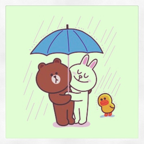 #brownandcony #brownlovecony #brown #cony #sweet #duck #sticker #secretdate #instagram #love