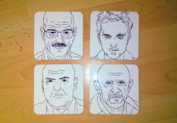 So you can now buy my Breaking Bad character drawings as coasters. Pretty sweet huh? https://www.etsy.com/listing/150840767/set-of-4-breaking-bad-coasters