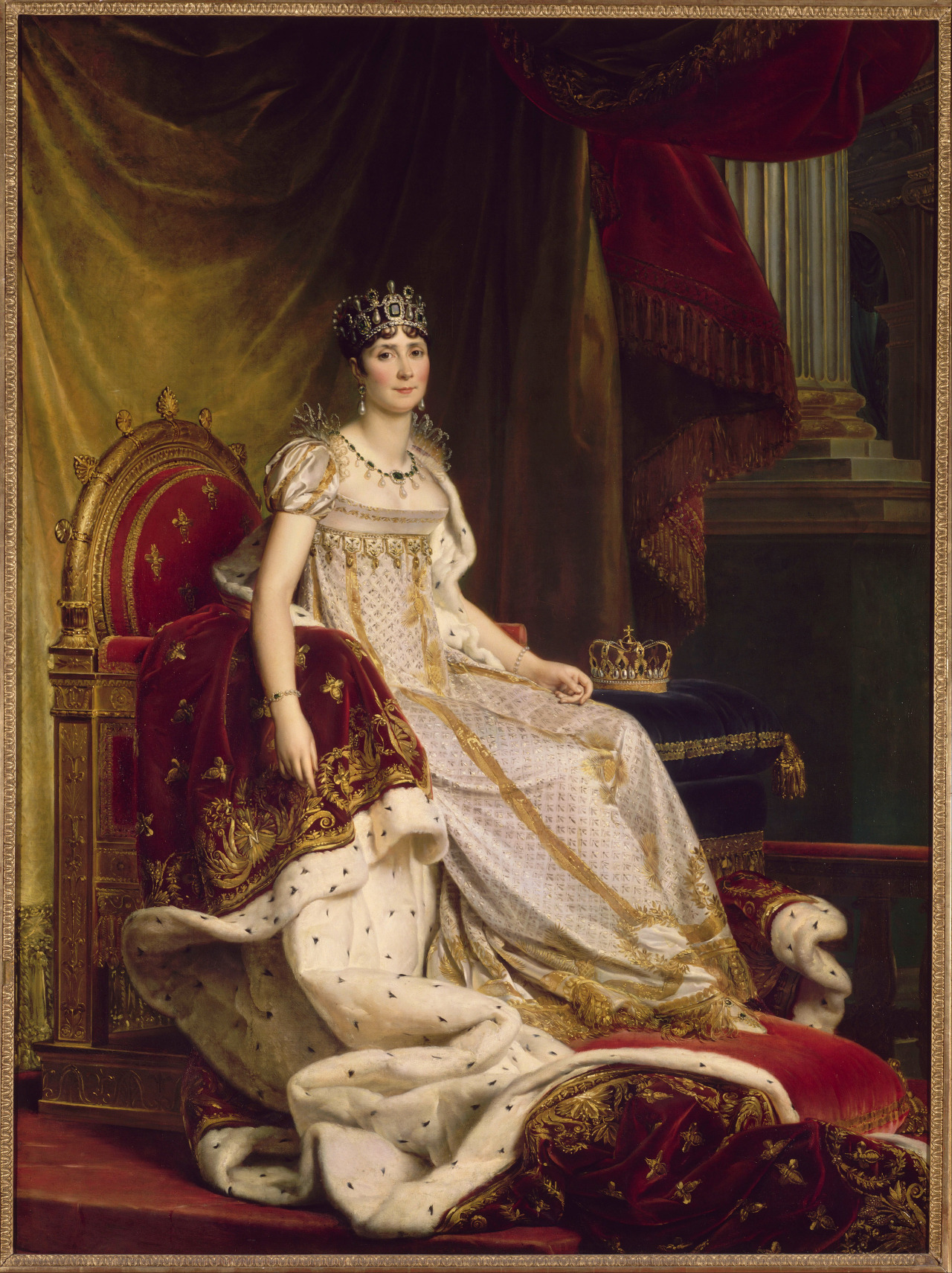 thevictorianduchess:  Joséphine in coronation costumeFrancois GerardOil on canvasc. 1806 - 1808
