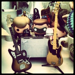 Mini music setup! #fender #jaguar #starwars #greenlantern @dirtyrhythms by jermeh http://bit.ly/XMnhlK