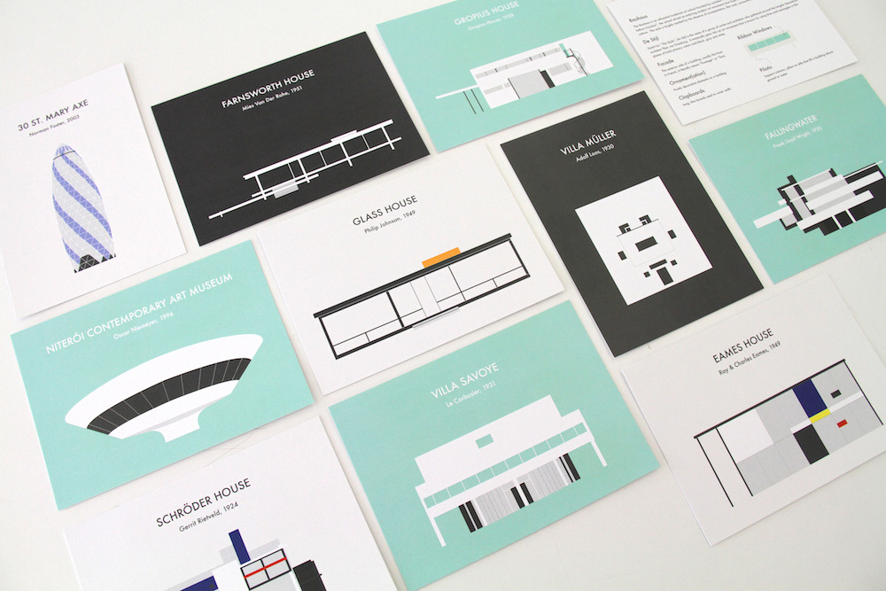 Project of the Day — For the architect, fan of modern architecture, or just someone you know that likes to have well-designed prints of iconic buildings in your life, comes Archigrams: Prints of Modern Architecture Icons that Inspire.