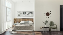 homedesigning:  Contemporary Bedroom In White