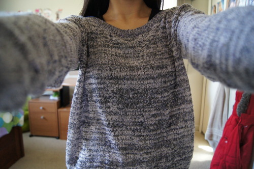 akawhatever:  sinqlepringle:  i liked my sweater today c:  can i have it pls