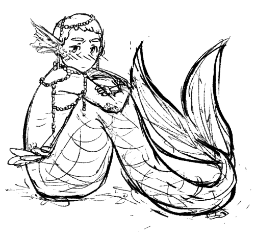 ivorylungs:  trying to break through my artblock with some merman ifyoulovemeyou'llignoremyshitmermananatomy