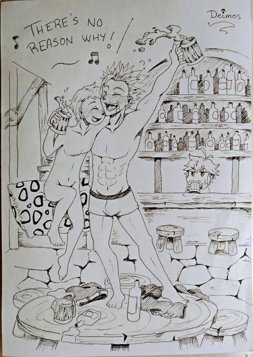 Nanatsu no Taizai nnt Ban king Harlequin ban the undead meliodas drunk the Fairy King the seven deadly sins seven deadly sins