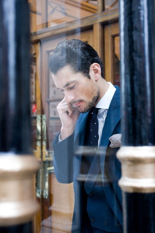 LFW - David Gandy Source: GQ UK