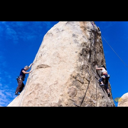 Sean and Karen racing. #climbing www.eddyizm.com #sport #applevalley #myfriends #nature #outdoors #fitness #exercise