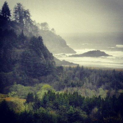 Where the #columbia runs into the #pacific ocean, at Cape Disappointment, in Ilwaco, #washington where the weather certainly fits the name. Ruggedly exhilarating, though!