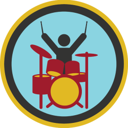 lifescouts:  Lifescouts: Drums Badge If you have this badge, reblog it and share your story! Look through the notes to read other people's stories. Click here to buy this badge physically (ships worldwide). Lifescouts is a badge-collecting community of people who share their real-world experiences.  Played drums when I was younger. Haven't played in about ten years so I'm not sure if it counts anymore. BADGES: 21