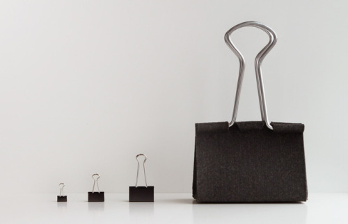 laughingsquid:  Clip Bag, A Handbag That Looks Like an Office Binder Clip
