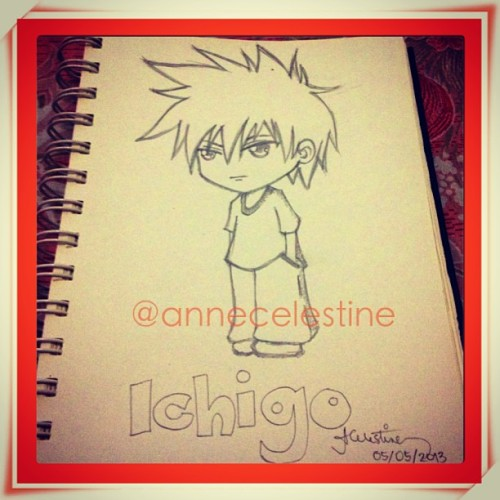 it's been awhile since i drew #chibi style. seems fine so far… this is #ichigo. he's a bit sad coz he doesn't know his origins. #bleach #fanart #anime