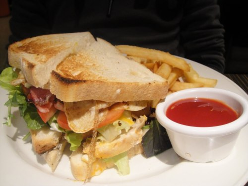I'm hungry for a club sandwich!