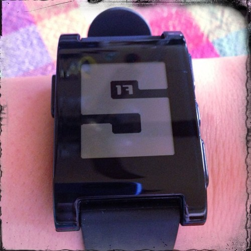 #fmsphotoaday April 29: i wore this today [my pebble watch!]