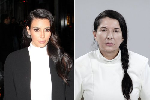 I mean, has anyone seen Kim Kardashian and Marina Abramović in the same room? [Kim Kardashian is Now the Spitting Image of Marina Abramović] (Marc Piasecki/FilmMagic/Getty (L), Marco Anelli (R))