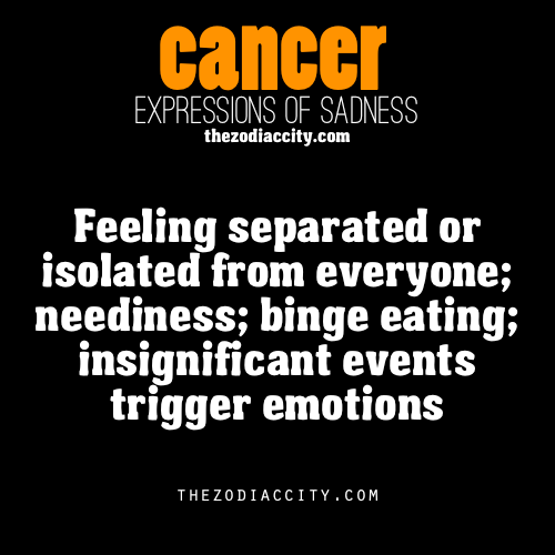 zodiaccity:  Zodiac Expressions of Sadness: Cancer (reworded)