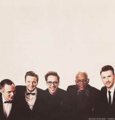 "believe-in-gotham:  ""The Avengers"" cast @ 2013 Academy Awards"