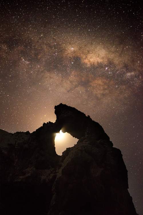 llbwwb:  Aramoana and milkway (by Stefan Mutch)