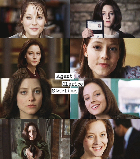 t-a-t-t-e-r-e-d-a-n-d-t-o-r-n:   Jodie Foster as Clarice Starling in The Silence of the Lambs