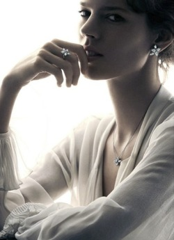 iowntherunway:  Freja Beha Erichsen by Patrick Demarchelier for Harry Winston Holiday 2012 Campaign See more from this set here