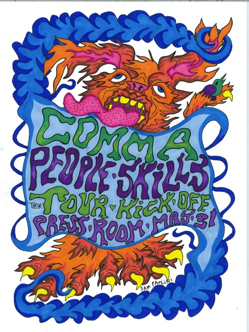Comma & People Skills tour kick off show!