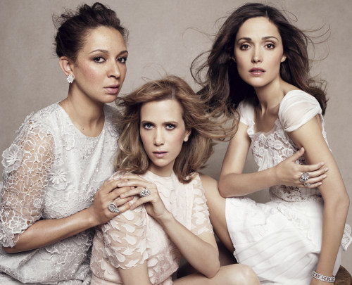 Maya Rudolph, Kristen Wiig & Rose Byrne by Paola Kudack Vanity Fair January 2011