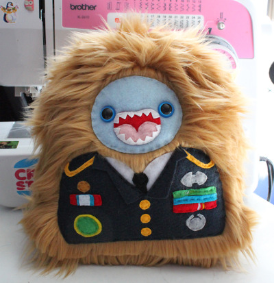 Custom order monster in an Army dress uniform! :]