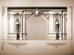 archimaps:  Design detail of the vestibule of Charles Garnier's Opera House, Paris