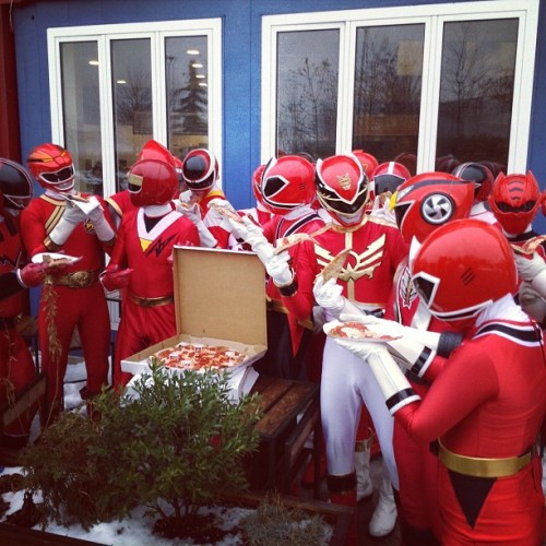 sheik790:  Red Ranger Pizza Party