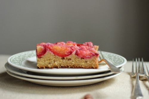 plum hazelnut cake from Vintage Kitchen Notes