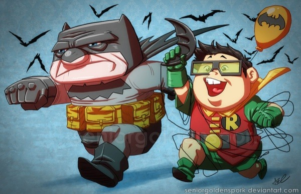 Pixar Meets Batman & Robin Carl and Russel from Up hit the streets of Gotham in this whimsical mash-up by seniorgoldenspork.