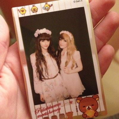 Beckii & I being little forest fairy's~! ^-^I do love how Polaroids look! So pretty and cute looking~!!