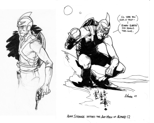 Adam Strange sketches by ~Laemeur