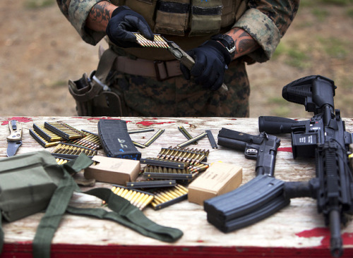 house-of-gnar:  Loading Rounds by United States Marine Corps Official Page on Flickr.