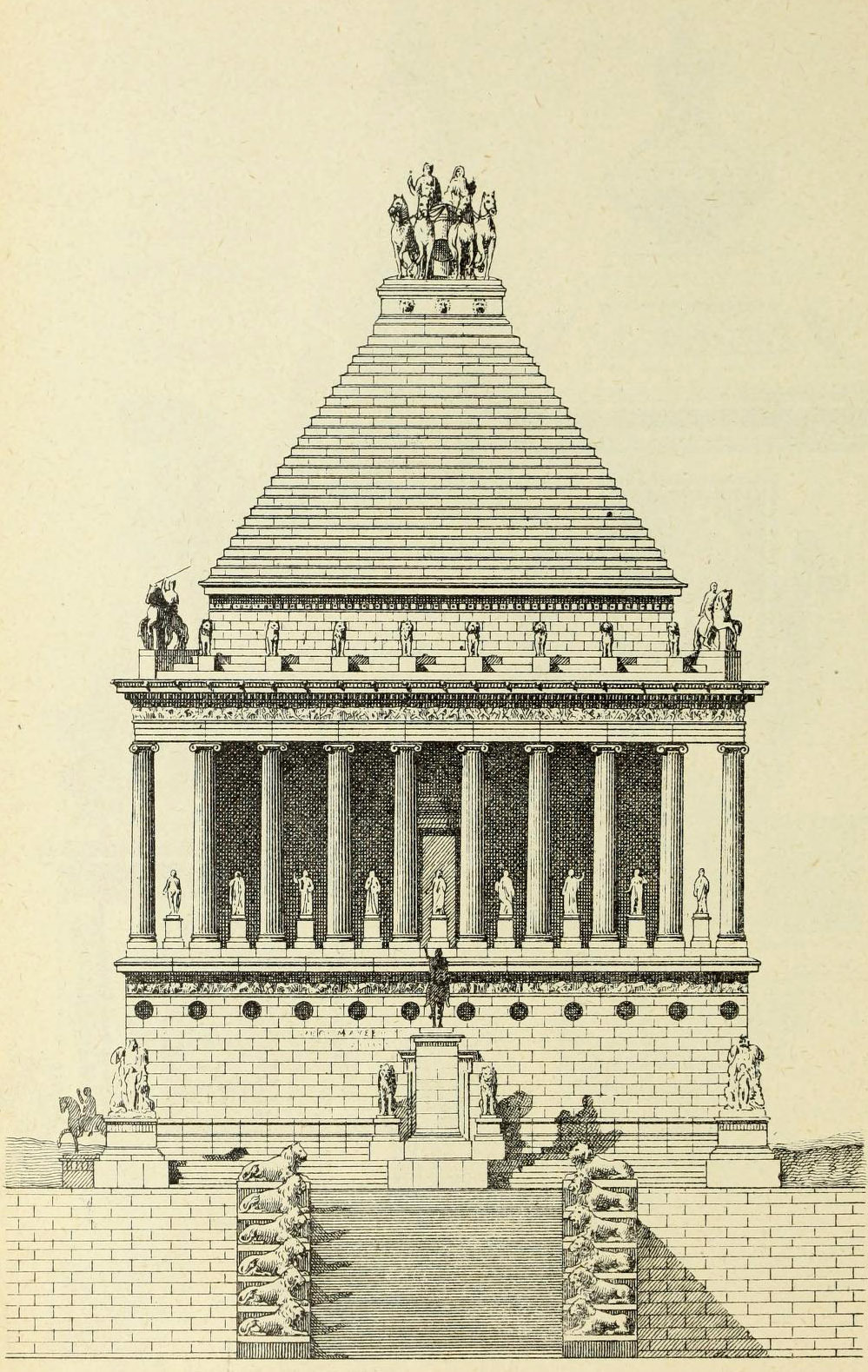 archimaps:  Hypothetical reconstruction of the Mausoleum of Halicarnassus