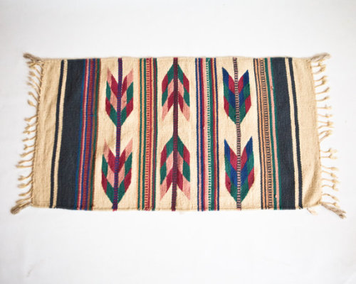 (via Vintage Zapotec Mexican Wool Hand Woven by lastprizevintage)