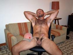 Naked in the living room. Http://mytumblr.gaypornfanatic.com