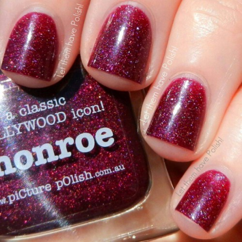 @picturepolish in Monroe. Such a delicious holohraphic beauty! #officialletthemhavepolish #picturepolish #nailporn #nailpolish #nailcolor #cflbeautyblogger #beautyblogger #bblogger
