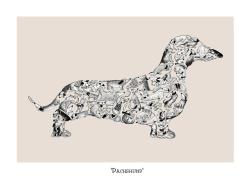 Dachshund illustration(s) on Team Weenie at facebook.com