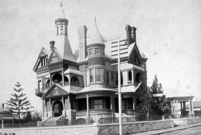 The William Bradbury Mansion in 1937, Los Angeles