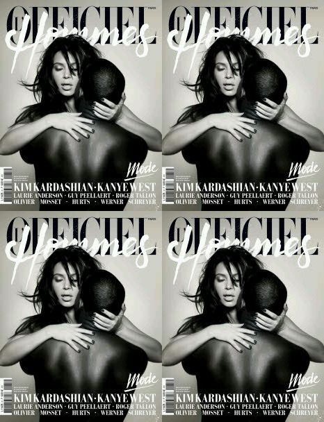 Kanye West and Kim Kardashian on the Cover of a French Magazine