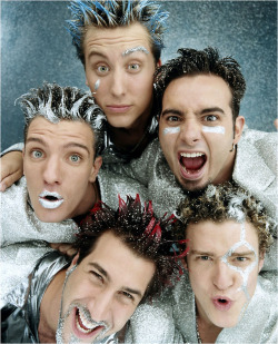highandgay:  N'Sync in Rolling Stone, 2000Look at all those frosted tips …   Dear Jesus
