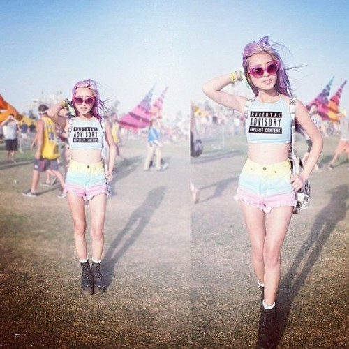 We love @dominiquenghiem's Coachella style! #dailylook #coachella #festival2013