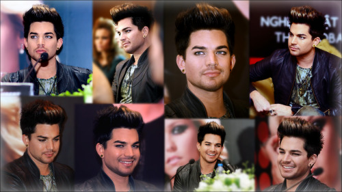 Nothing fancy, just two collages of Adam Lambert's quiet, mesmerizing beauty during the Vietnam Hennessy Press Conference. Not sure who took these shots. But, whoever did, THANK YOU, I take no credit for the photographs, just the light editing.  Links for full 1600x900 sizes: BW - http://oi45.tinypic.com/flhu8p.jpg Color - http://oi49.tinypic.com/2gwtbvb.jpg I love you Adam, always! :) <3