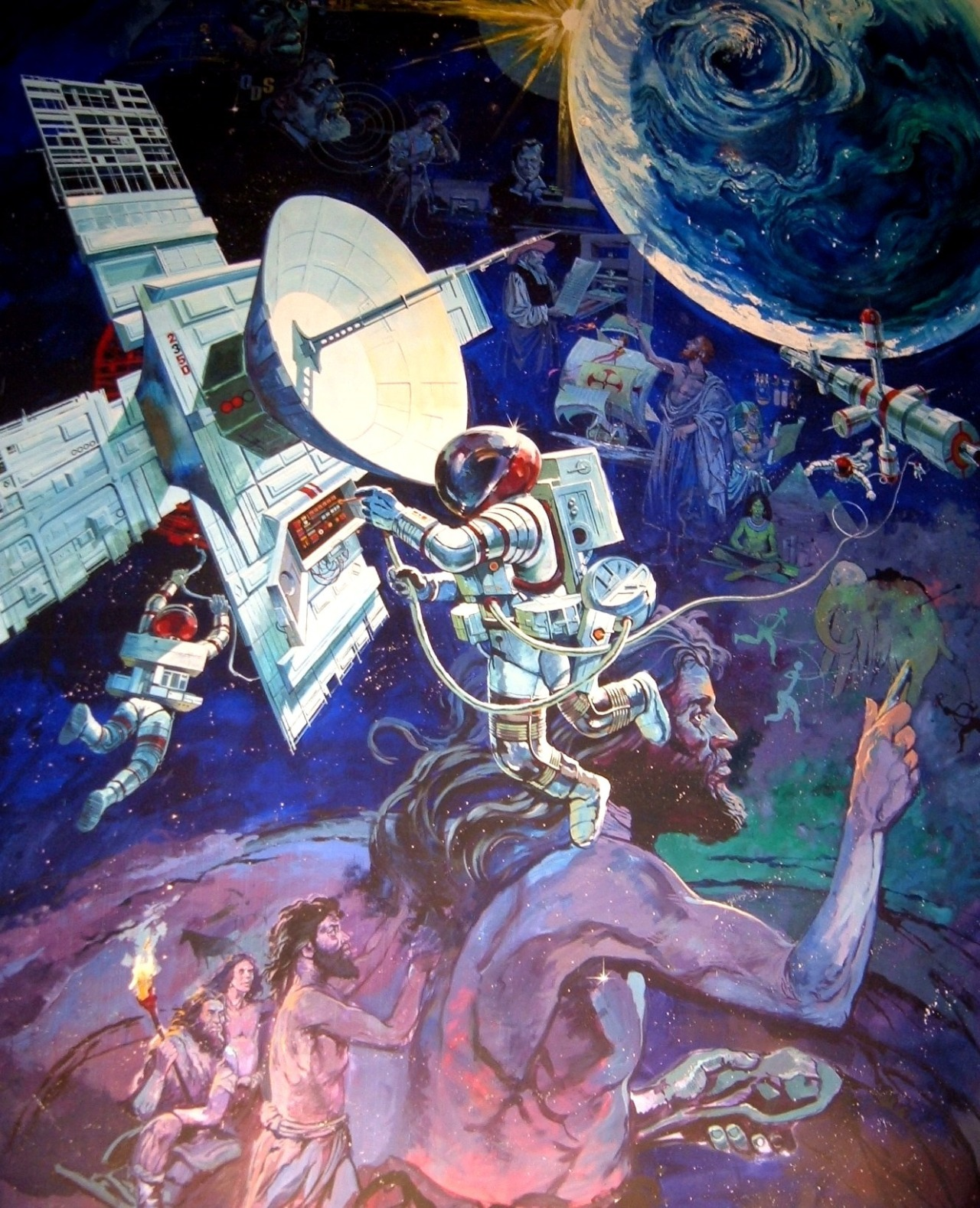 The full mural at disney world 39 s spaceship earth by for Disney world mural